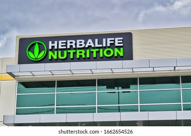 Houston, Texas/USA 03/01/2020: Herbalife Nutrition corporate office exterior in Houston, TX. Global corporation that creates and sells dietary supplements founded in 1980.