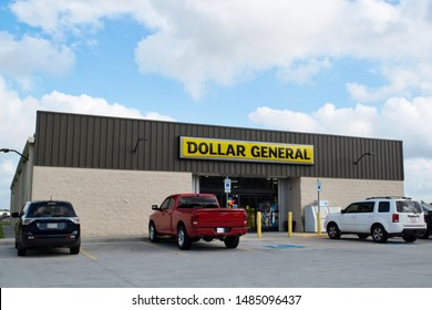 Houston, Texas/USA 08/14/2019: Founded in 1939 and renamed in 1968, Dollar General variety stores have locations all across the US. Pictured store is on Old Humble Rd, Humble Texas.