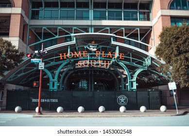 Houston, Texas/USA - July 19, 2019: Home Plate South at Minute Maid Park.