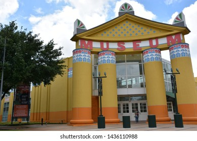 HOUSTON, TX - APR 18: Children's Museum of Houston in Texas, as seen on Apr 18, 2019. Average annual onsite attendance is approximately 800,000.