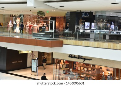 HOUSTON, TX - APR 22: The Galleria mall in Houston, Texas, as seen on Apr 22, 2019. It is an upscale mixed-use urban development shopping mall located in the Uptown District of Houston.
