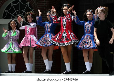HOUSTON, TX - APRIL 26: Cass Irish Dancers perform on Main Stage at 2009 Houston International Festival on April 26, 2009 in Houston, Texas.