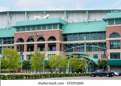HOUSTON, TX, JUNE 2005: View of Minute Maid Ballpark where the Astros play