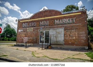 HOUSTON, TX JUNE 9th 2018: Delano Mini Market in the Third Ward of Houston Texas