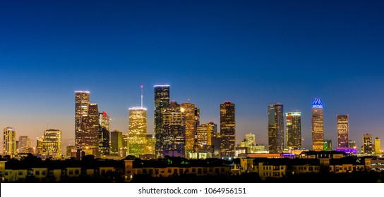 Houston TX Skyline at Dawn