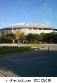 Houston, TX, USA May 2, 2015 The Houston Astrodome, the first domed stadium in America, has sat empty since 2005. The stadium will be renovated and used as a convention center
