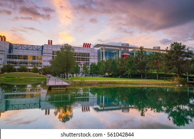 Houston, TX USA - NOV 11 : The George R. Brown Convention Center in the downtown Houston Texas USA on November 17, 2016 It opened on September 26, 1987