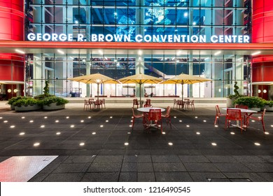 HOUSTON, TX, USA - SEPTEMBER 10, 2018: The Robert R. Brown Convention Center is a massive 1,900,000 square foot building that's located in downtown Houston that holds plenty of conferences and events.