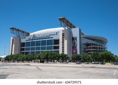 HOUSTON, TX-APR 4, 2017:Outside of NRG Stadium, the only rodeo and NFL indoor/outdoor retractable roof stadium that can be configured to utilize a 125,000 square foot space for exhibit, concert, event