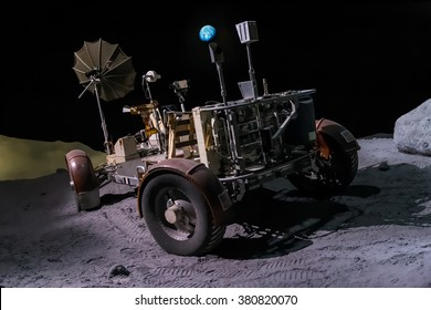 Houston, TX/USA - circa July 2013: Space rover used for moon exploration in Lyndon B. Johnson Space Center, Houston, Texas