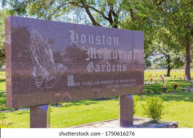 Houston TX/USA - June 2020: Houston Memorial Gardens Cemetery where George Floyd will be buried