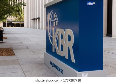 Houston TX/USA-June 2020: Downtown headquarters of KBR Inc, formerly known as Kellogg Brown and Root, ia global engineering, construction, and service company. Number 501, just missing Fortune 500