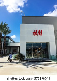 HOUSTON, US-FEB 12, 2017: Customer enter H&M Store at Willowbrook Mall, a regional shopping mall. H&M is an international fashion retail corporation, second largest global clothing retailer after Zara
