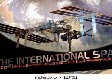 HOUSTON,TX,USA-OCTOBER 18:Photo of Space Center Houston official visitor center of Lyndon B. Johnson Space Centerâ??NASA's center for human spaceflight activities on October 18,2015 in Houston, Texas