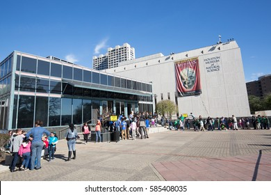 HOUSTON,USA ON 21 JANUARY 2017: Houston Museum of Natual Science in a crowed day