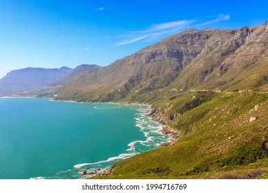 Hout bay beach along Chapman's peak drive in Cape Town South Africa