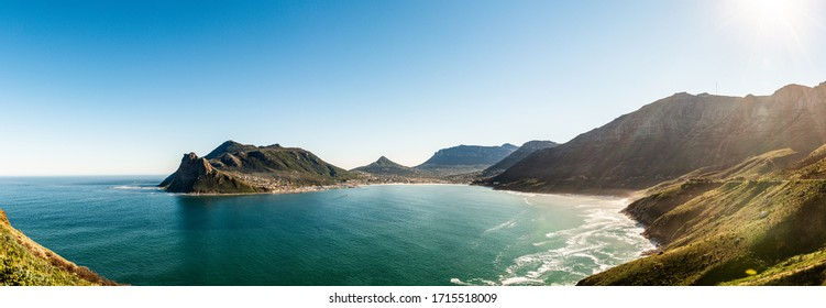 Hout Bay, Cape Town in South Africa panoramic view during winter