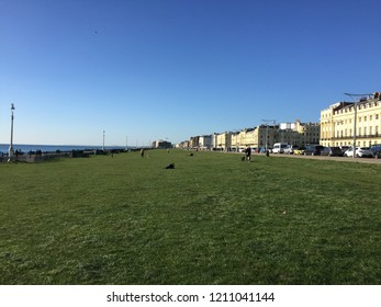 Hove Beach Promenade Grass Space