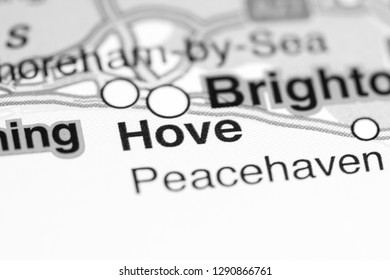 Hove. United Kingdom on a map
