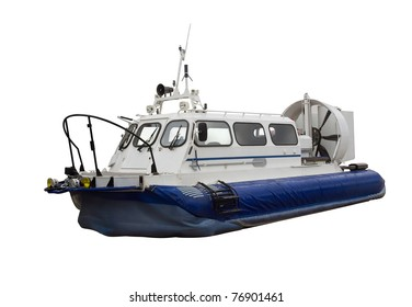 Hovercraft - Air-cushion boat isolated on white