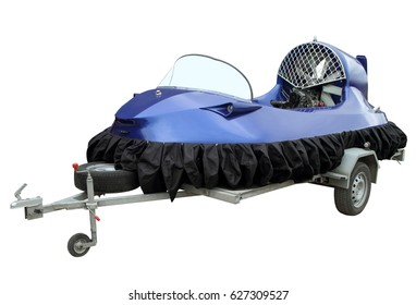 The hovercraft isolated on a white background.