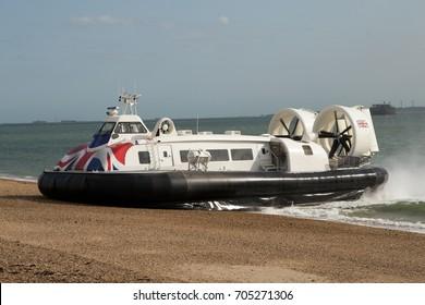 Hovercraft on Beach