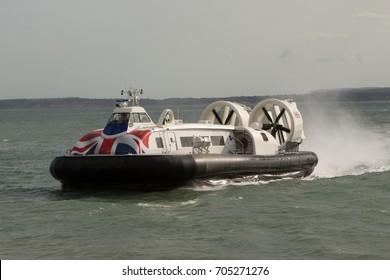 Hovercraft at Sea