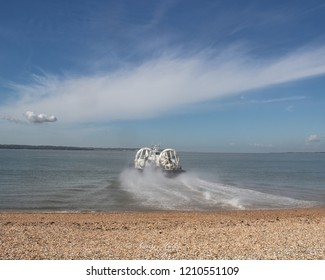 hovercraft taking to sea