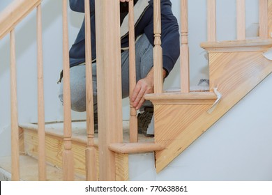 How to Install a Stair Railing Kit Installation for wooden railing for stairs