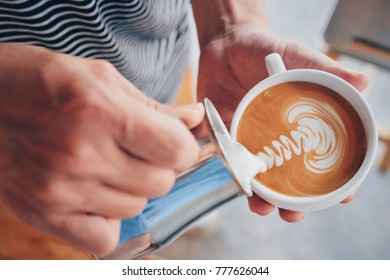 How to make coffee latte art