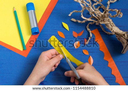 How Make Together Child Autumn Tree Stock Photo Edit Now