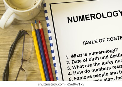 How numerology affect destiny concept- with contents of a lecture cover sheet.