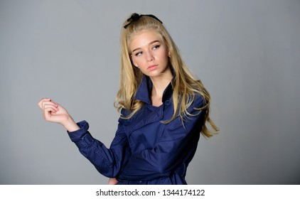How repair bleached hair fast and safely. Bleaching roots. Hairdresser tips concept. Salvaged my bleached hair. How to take care of bleached hair. Girl tender blonde makeup face grey background.