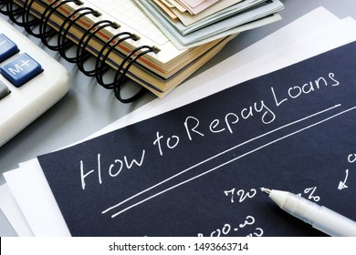 How to repay loans sign. Repayment concept.