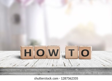 How to sign in a room on a wooden table in bright daylight