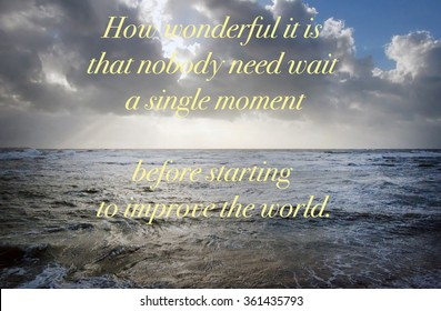 How wonderful it is - quote