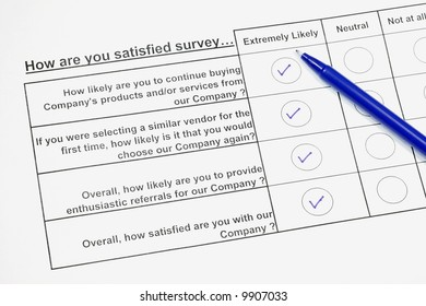 How are you satisfied survey III