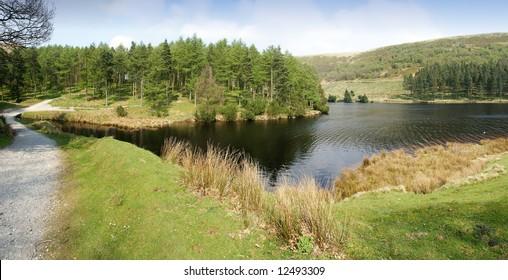 Howden Reservoir in the Derwent Valley Peak District National Park midlands england uk