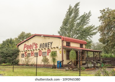 HOWICK, SOUTH AFRICA - MARCH 23, 2018: Peels Honey, a well-known business next to the N3-road in Howick. It is fenced with an electrified fence
