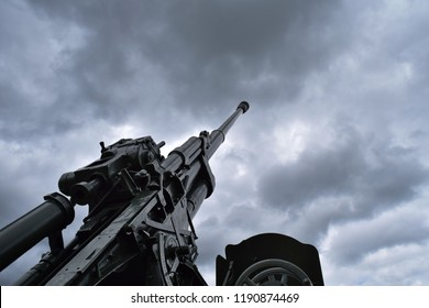 Howitzer in Buynichskoe pole memorial complex, Buynichi village, Mogilev Region, Belarus