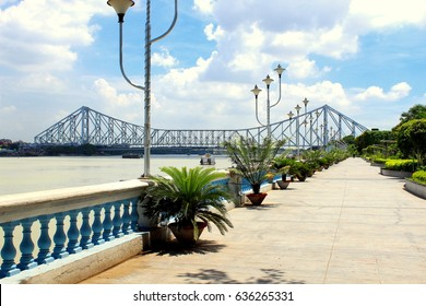 Howrah Bridge of the famous bridge in India as seen from Millennium Park
