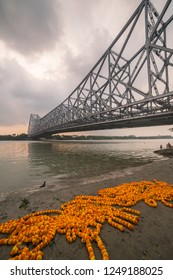 Howrah bridge - The historic cantilever bridge on the river Hooghly in Kolkata, India