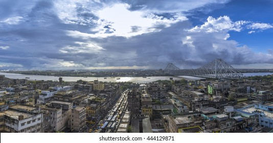 Howrah bridge just after rain