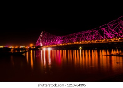 Howrah bridge in night