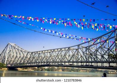 Howrah bridge in perfect daylight