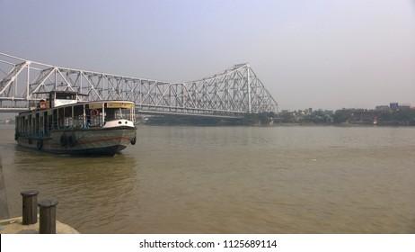 HOWRAH BRIDGE PORT INDIA