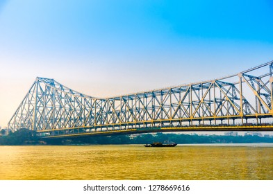 Howrah Bridge is a bridge with a suspended span over the Hooghly River in West Bengal, India.  It connect two famous city Kolkata and Howrah.