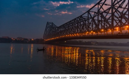 Howrah Bridge is a bridge with a suspended span over the Hooghly River in West Bengal, India.