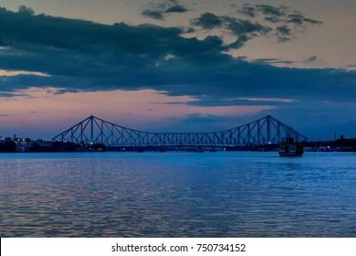 Howrah bridge at the time of Dawn.