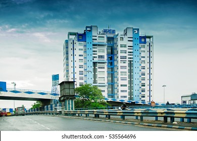 HOWRAH, WEST BENGAL , INDIA - AUGUST 7TH 2016 : Nabanna,building in industrial township of Howrah,houses State Secretariat of West Bengal. Office of the respected Chief Minister, Smt. Mamata Banerjee.